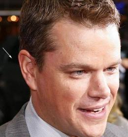 Photo of Matt Damon with Ear Seeds