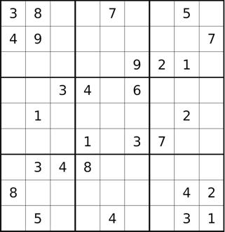 Sukoku Puzzle
