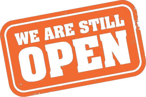 We're Still Open