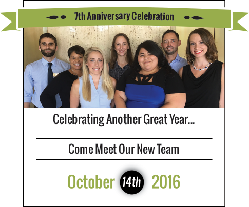 7th Anniversary Celebration | Celebrating Another Great Year... | 10.14.16 | From 6pm to 9pm